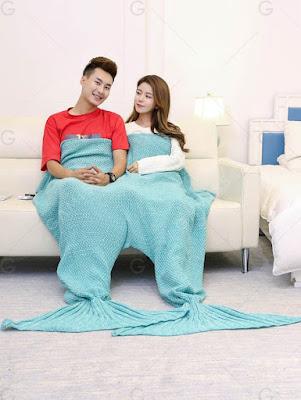 Cobertor de Lã Cauda de Sereia Dupla
