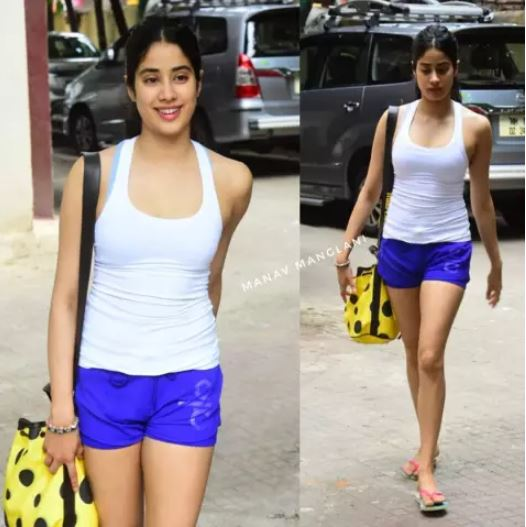jhanvi kapoor in shorts