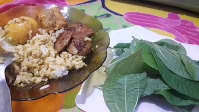 Nasi gulai telur jengkol balado dan Pohpohan sumber pangan dari hutan