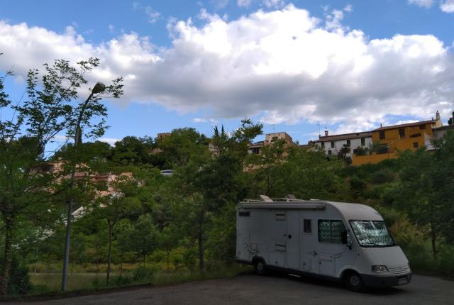 Olivella, estacionament i pernocta