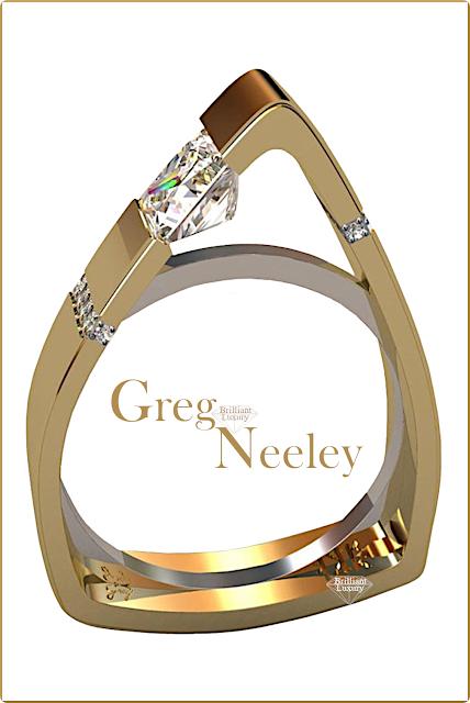 Greg Neeley North Face Princess Diamond Engagement Ring #jewelry #brilliantluxury