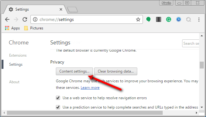 Disable Notification in Chrome