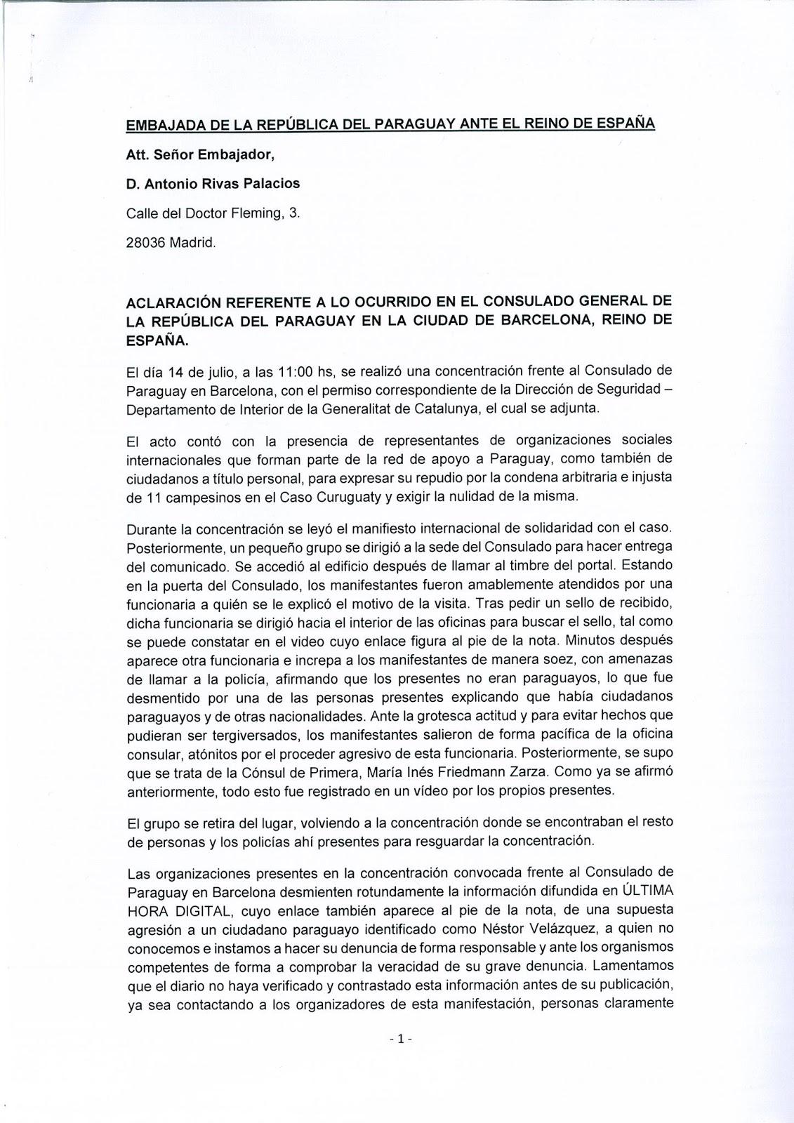 ... el Protocolo de la Convención de Viena sobre Relaciones Consulares y la  Ley 1335 99 del Servicio Diplomático y Consular de la República del  Paraguay. 5c3da161f48