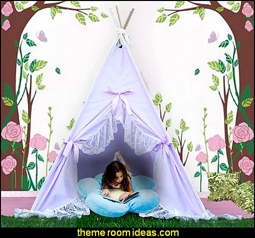 lace teepee, kids teepee, childrens teepee, teepee tent, play tent, girls teepee