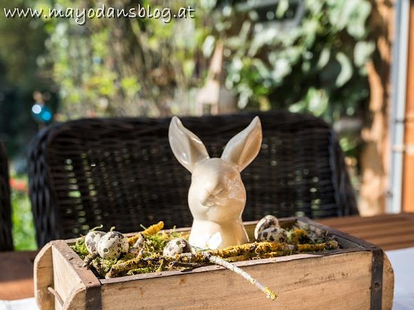 Osterfrühstück im Wintergarten