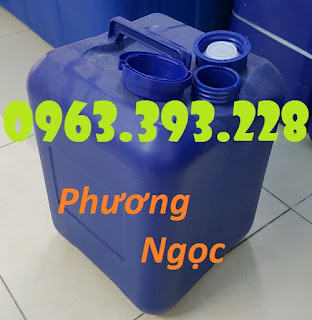 Can nhựa vuông đựng hóa chất, can nhựa 20 Lít, can nhựa loại dày Bf7b27f7eb070d595416