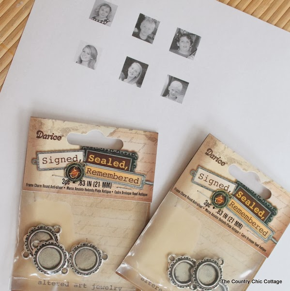 Handmade Gift:  Grandma Photo Bracelet Tutorial -- learn how to make mom or grandma a great handmade photo charm bracelet with this super simple tutorial.