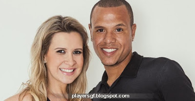 Luís Fabiano and his wife