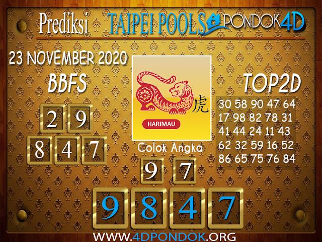 Prediksi Togel TAIPEI PONDOK4D 23 NOVEMBER 2020