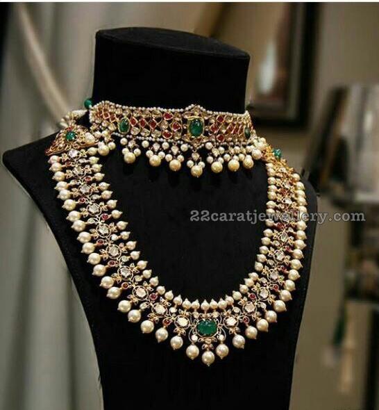 kundan choker by hazoorilal jewellers jewellery designs