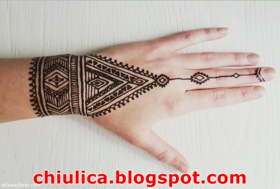 Henna Art Tangan Simple Makedes Com