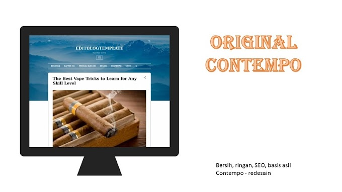 DOWNLOAD TEMPLATE CONTEMPO  BLOGGER STYLE ORIGINAL