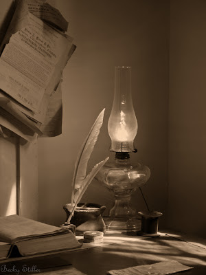 spiritual awakening, becky stiller photography, quill and ink, lamp