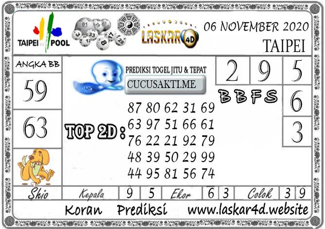 Prediksi Togel TAIPEI LASKAR4D 06 NOVEMBER 2020