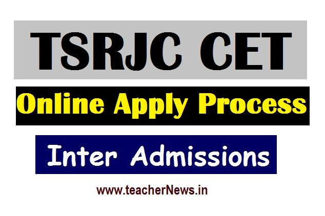 TSRJC 2020 Inter Online Apply tsrjdc.cgg.gov.in last date apply
