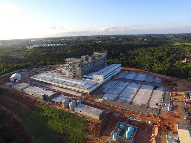 Obras do Hospital Metropolitano seguem em ritmo acelerado