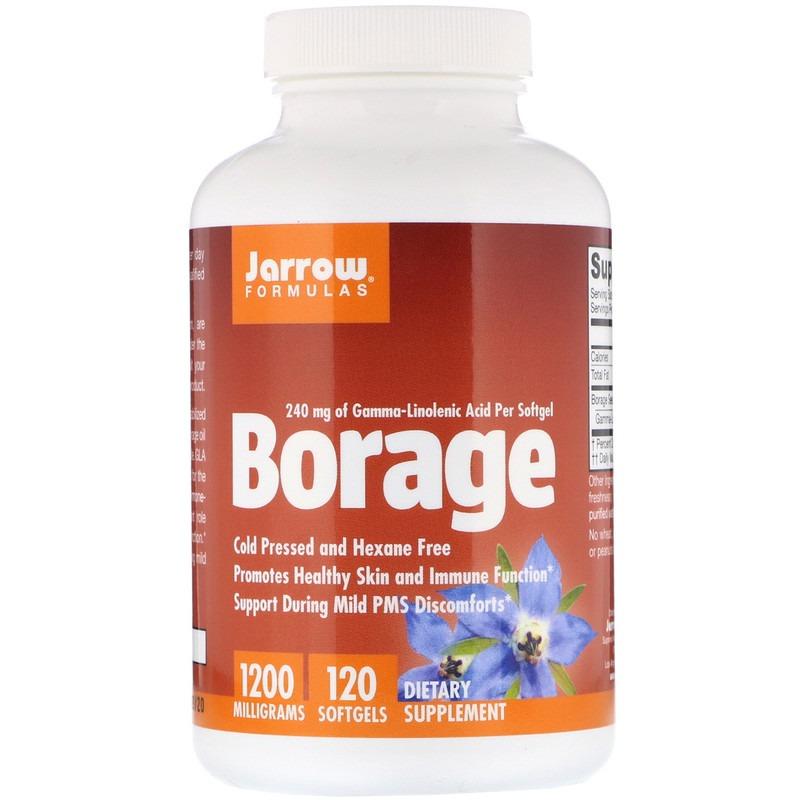 Jarrow Formulas, Borage, GLA-240, 1200 мг, 120 мягких желатиновых капсул