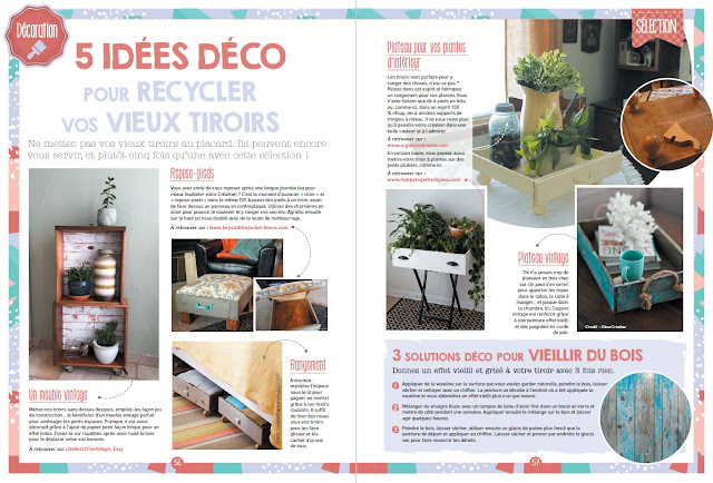 Photo of my drawer project in a French Craft Magazine