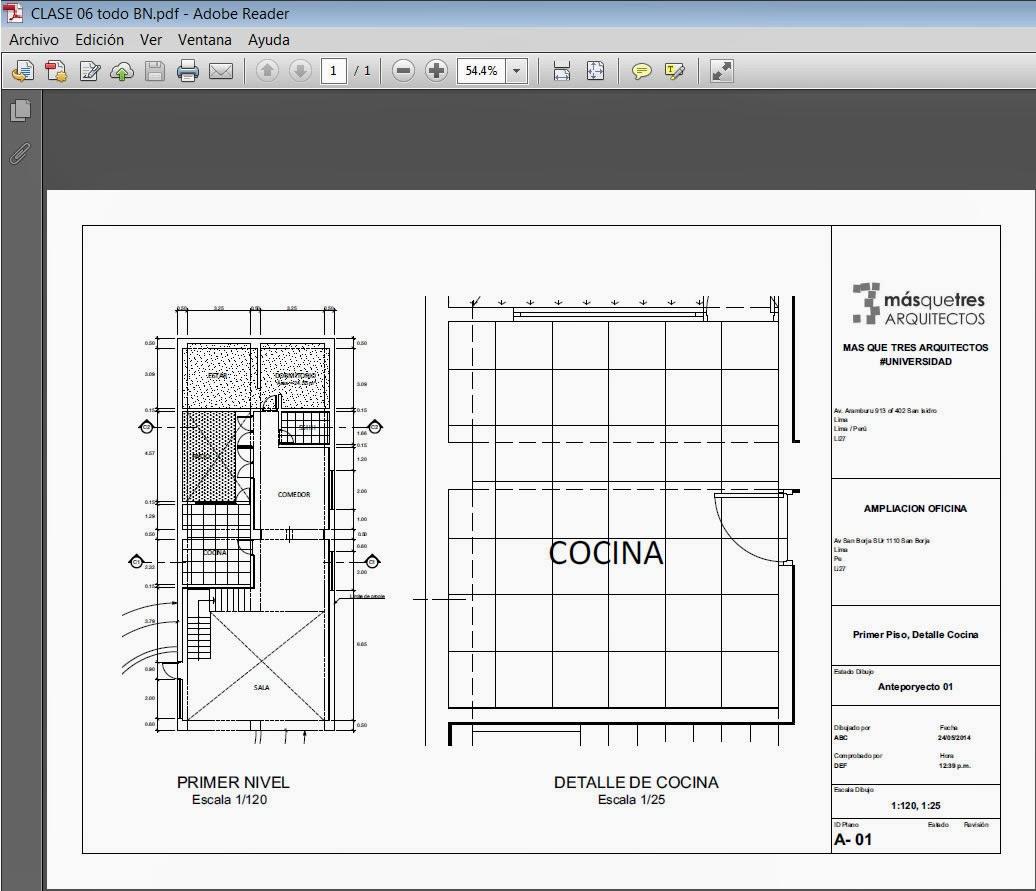 Impresi n de planos en archicad archicad 22 lumion 8 ps for Planos de arquitectura pdf