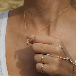 Origin Pineapple Necklace - Solid Gold and Citrine Gem - Daisy London - Jewellery Blog