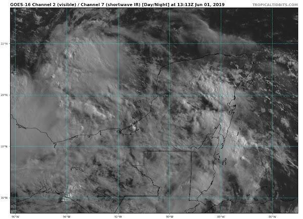Sistema de Baja Presion con probabilidad ciclónico en el sur del Golfo de México
