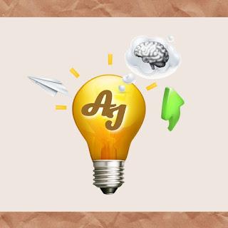 Logo do  Blog - lâmpada com as iniciais do Blog