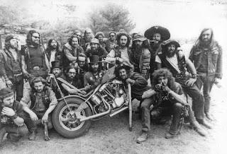 Miembros de los Hell Angles de California en los años 60