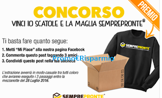 Logo Gioca e vinci gratis 10 scatole e maglia SemprePronte