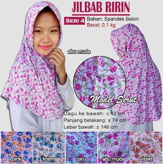 Jilbab serut bergo motif cantik - ririn seri 4