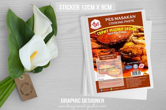 Tempahan Design Sticker Pes Makanan