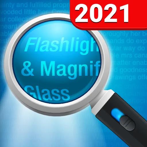 تنزيل Magnifying Glass + Flashlight Premium  عدسة مكبرة بسيطة وعملية لنظام الاندرويد
