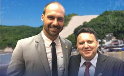 Resultado de imagem para Eduardo Bolsonaro e cícero martins