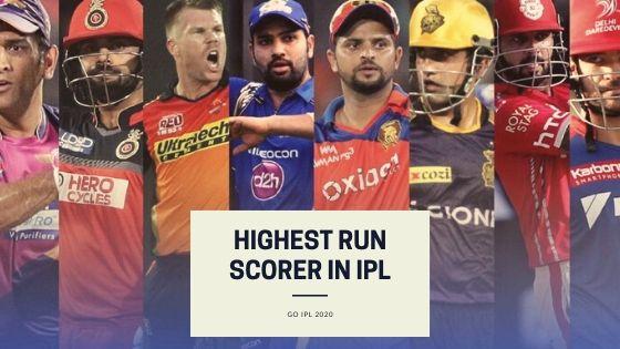 Top 20 Highest Run Scorer in IPL