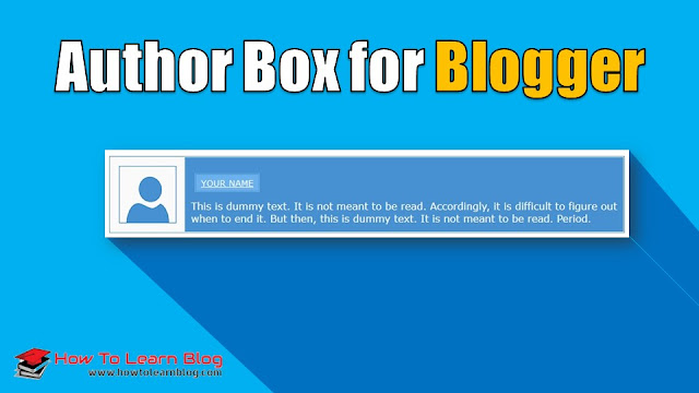 How to add author box widget below on Blogger's post? Author box widget for Blogger. Blogspot author box widget codes. Best responsive and cool stylish author box widget for Blogger's blog.