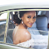Just Like The Wedding Party Movie, Adesua Etomi Poses With Her Wedding Gown Inside The Car Waiting For Banky W