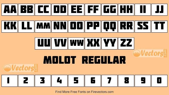 Molot Regular Font