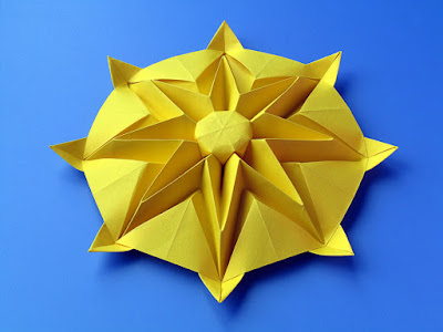 Origami Sole - Sun by Francesco Guarnieri