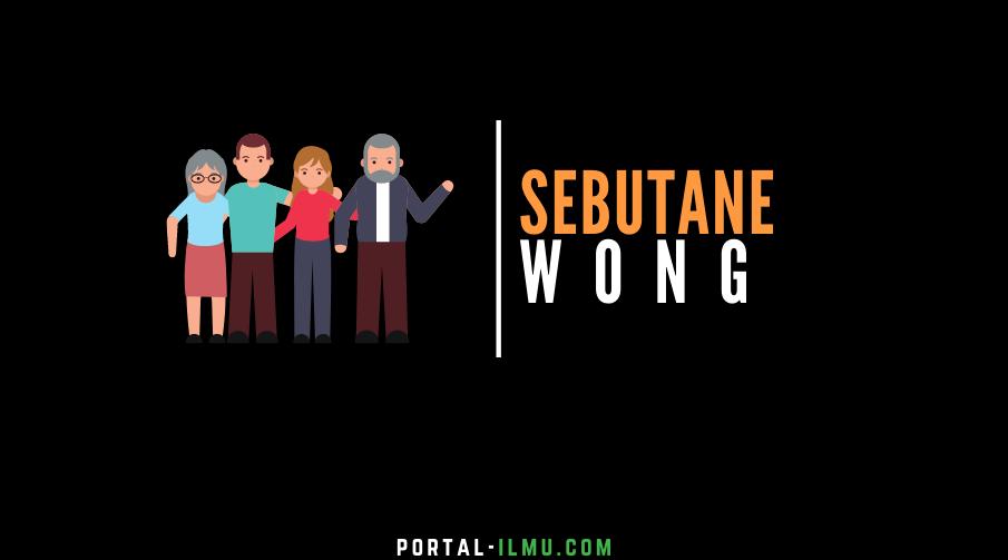 Sebutane Wong ing Basa Jawa