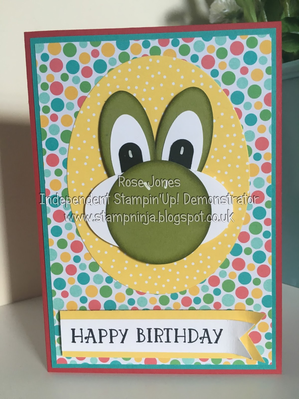 Stamp ninja yoshi birthday card yoshi birthday card bookmarktalkfo Image collections