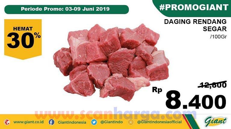 Promo Lebaran Daging Rendang Di Giant Periode 3 Juni - 9 Juni 2019