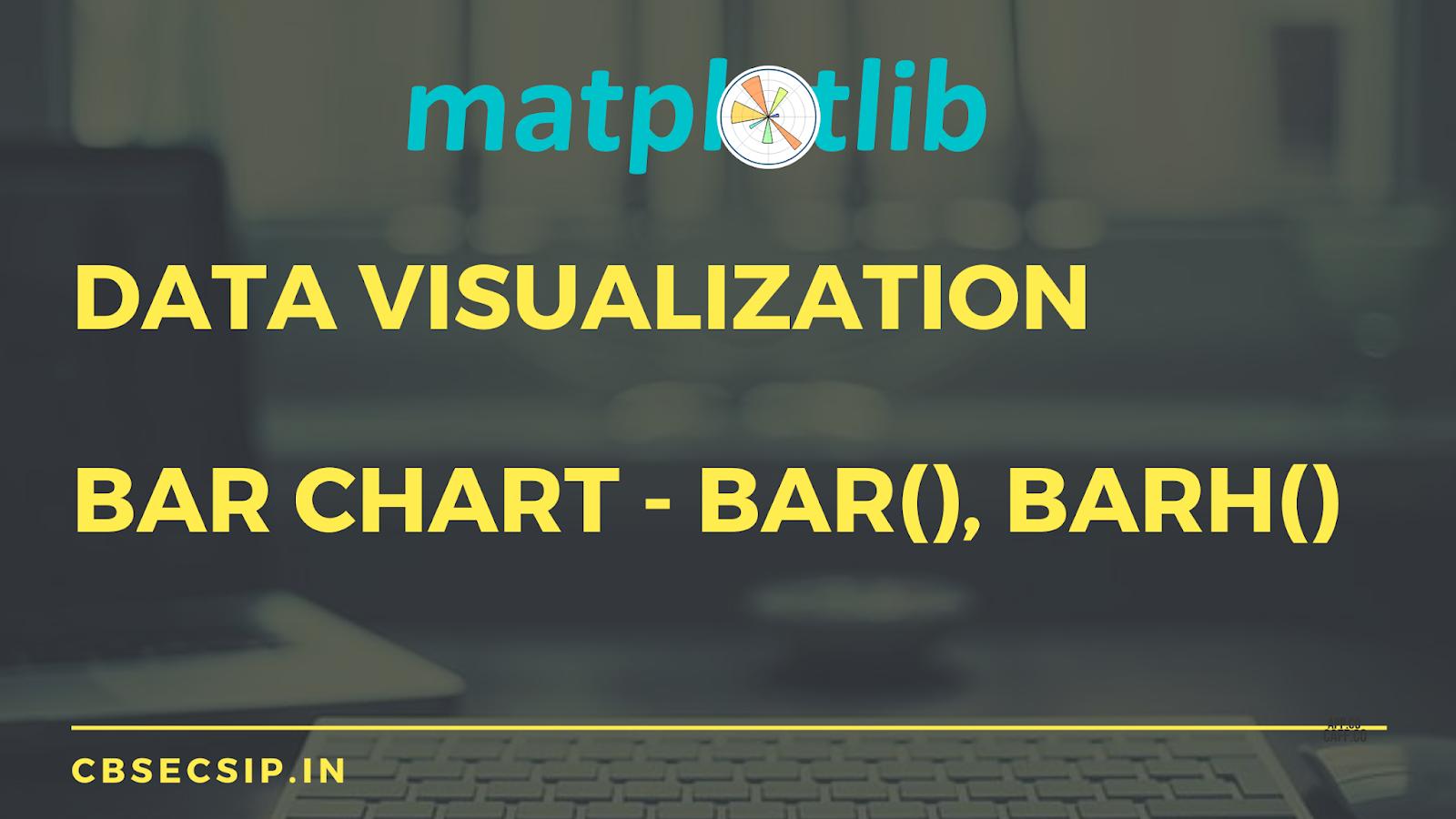 Data Visualization - Python Bar Chart (Using Pyplot interface of Matplotlib Library)