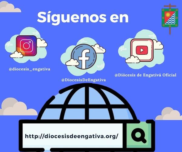 Invitación a Seguir las redes sociales de la Diócesis de Engativá