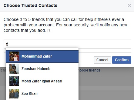 how to recover facebook account using trusted contacts