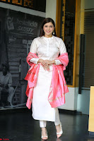 Mannara Chopra in Silky White Salwar Suit with Pink Chunni Latest Exclusive Pics March 2017 ~  041.JPG