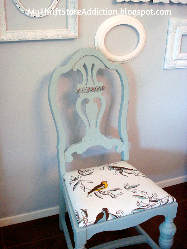 Chalk painted upcycled chair