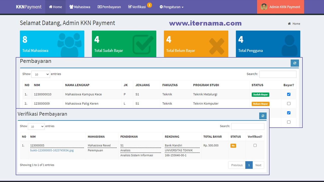 Source Code Aplikasi Pembayaran KKN Berbasis Web