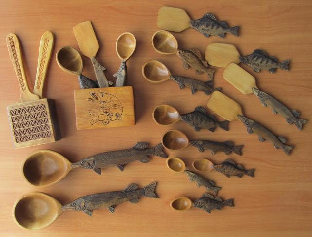 Деревянные резные поделки в подарок рыбаку