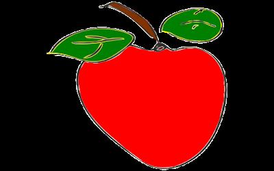 gambar clipart gratis buah apel