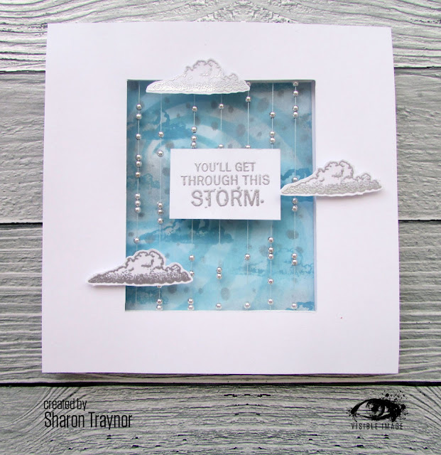 you'll get through this storm - sentiment stamp