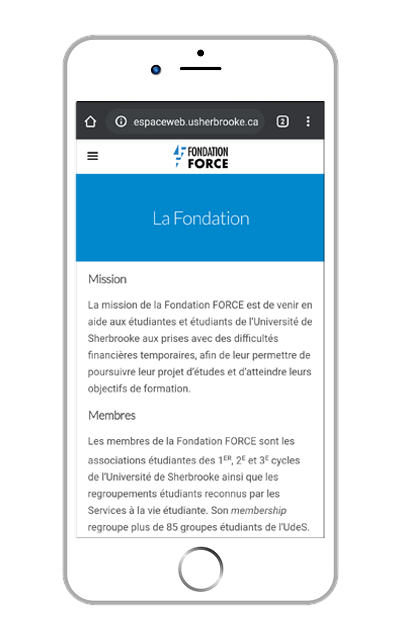 Site Web de la Fondation FORCE